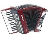 Hohner Accordeon Piano BRAVO II 48 ROUGE