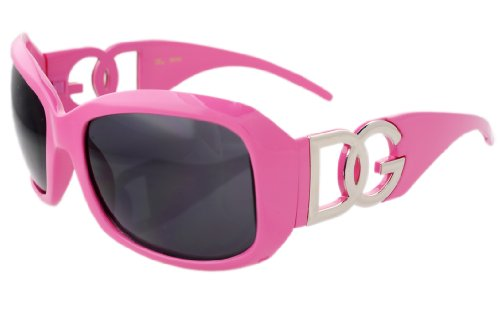 DG Eyewear Black Oversized Sunglasses JE36162B (Pink)