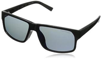 Converse Men's R001 Rectangular Sunglasses, Black Mirror