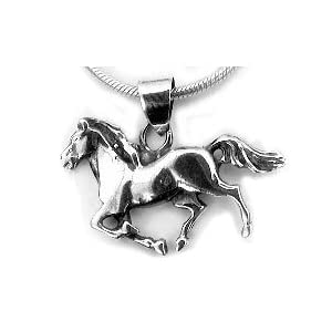 sterling silver running horse pony charm pendant