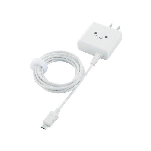 ELECOM スマートフォン用 【急速充電】 AC充電器 ケーブル一体型 1...