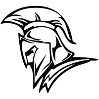 Spartan Head - Tribal Decal Vinyl Car Wall Laptop Cellphone Sticker