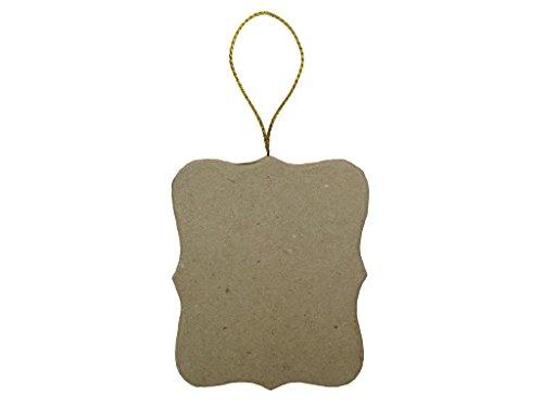 Paper Mache Flat Ornate Square Ornament By Craft Pedlars