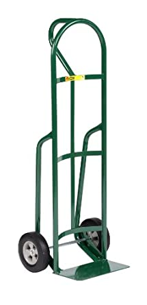 """Little Giant T-182-8S Steel Industrial Strength Hand Truck with Loop Handle, 8"""" Solid Rubber Tire Wheel, 800 lbs Capacity, 49"""" Height"""