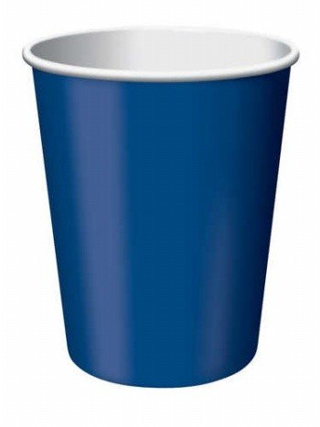 Creative Converting 240 Count Case Touch Of Color Paper Hot/Cold Cups, 9-Ounce, Navy