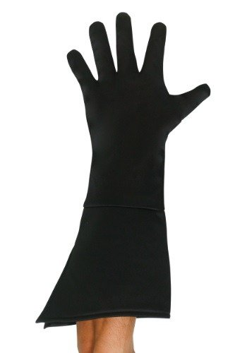 Adult-Black-Superhero-Gloves