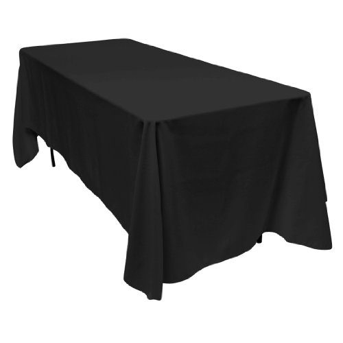 70 x 120 in. Rectangular Polyester Tablecloth Black