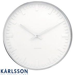 present time karlsson aluminum station wall clock gold