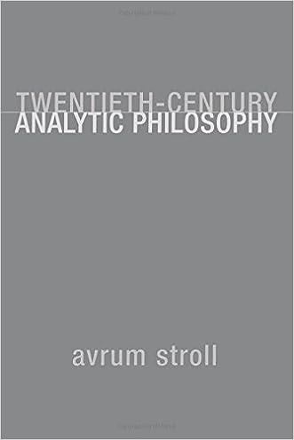 Twentieth-Century Analytic Philosophy