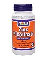Zinc Picolinate 50 mg 120 Capsules by NOW Foods