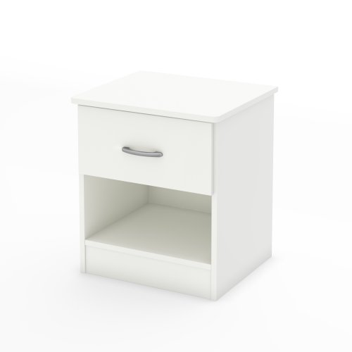 Best Deals! South Shore Libra 1-Drawer Nightstand, Pure White