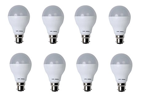 9 Watt LED Bulb (White, Pack of 8)