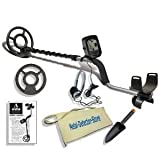 Teknetics Alpha Metal Detector W/8-inch Concentric Elliptical Open-face Coil, W/Coil Cover, Headphones, Pouch, Treasure Pouch & Trowel