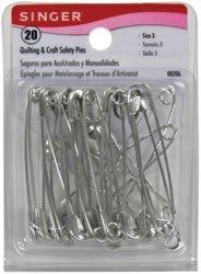 Singer Safety Pins Size 3 20/Pkg 00206; 6 Items/Order