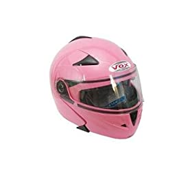Youth/Childrens/Kids LARGE PINK VOX Racing DOT Approved Motorcycle Helmet Full Face Flip Up Motorcycle, Bike and Snowmobile Helmets with Free Accessory Bag