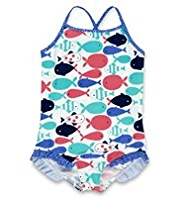Fish Print Swimsuit