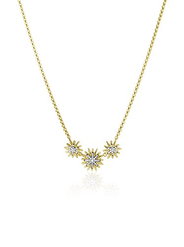 David Yurman Starburst Necklace with Diamonds in Gold