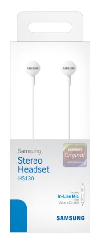 Samsung Hs130 Wired Stereo Earbud 3.5Mm Universal Headset With In-Line Multi-Function Answer/Call Button (White)
