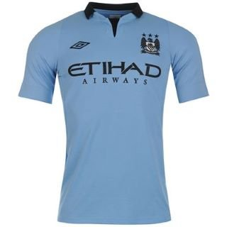 Umbro Manchester City Home Shirt 2012 2013 Junior Sky 7-8 (SB)