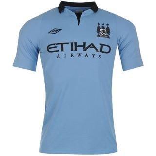 Umbro Manchester City Home Shirt 2012 2013 Junior Sky 7-8 (SB)