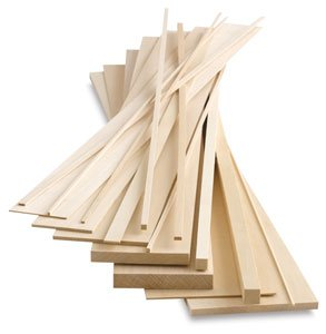Midwest Products Genuine Basswood - 1/16x1x24, Basswood Sheets