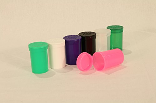 6 Pack Beamer Brand Solid Opaque Purps Purple Squeeze Pop Top Jars 6 Dram Size Vial Plastic Storage Doob Bottle Container Tube BPA Free Used for Tobacco Herbs Spices Oils Medicine Rx Arts and Crafts (Medicine Bottle Container compare prices)