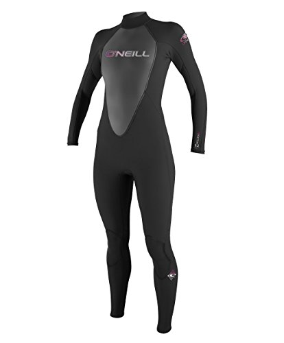 O'Neill, Muta in neoprene Donna Reactor 3/2 mm, Nero (Black), 6