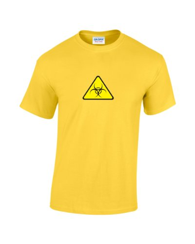 Warning Geek-Maglietta con logo Biohazard giallo X-Large