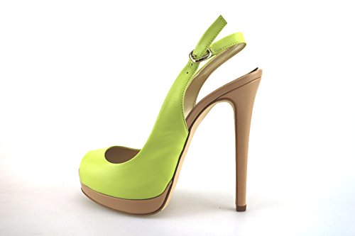 PAUL & BETTY sandali donna verde pelle AG358 (40 EU)