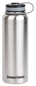 Simply Simily Stainless Steel Water Bottle - Wide Mouth - BPA Free ...