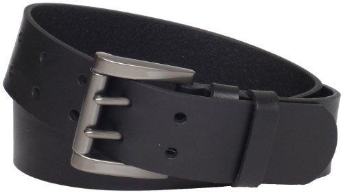 Levi's Men's 40mm Genuine Leather 2 Pronged Buckle Belt, Black, 34 (Levi Black Belt compare prices)