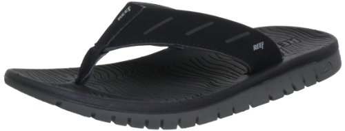 Reef REEF RODEOFLIP BLACK Flip-Flops Mens Black Schwarz (Black) Size: EU 37.5 US (6)