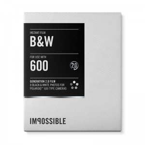The Impossible Project Black and White 2.0 Film for Polaroid 600-Type Camera