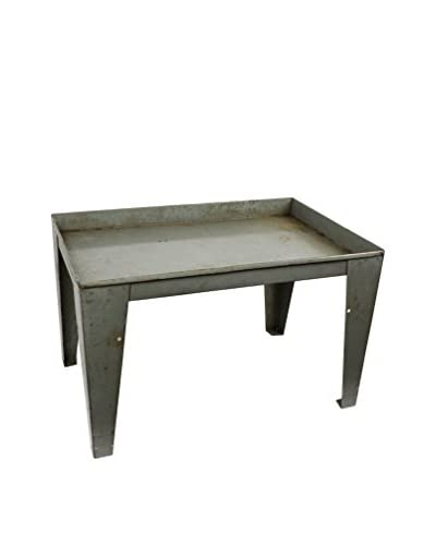 Uptown Down Previously Owned Light Blue-Green Industrial Metal Table