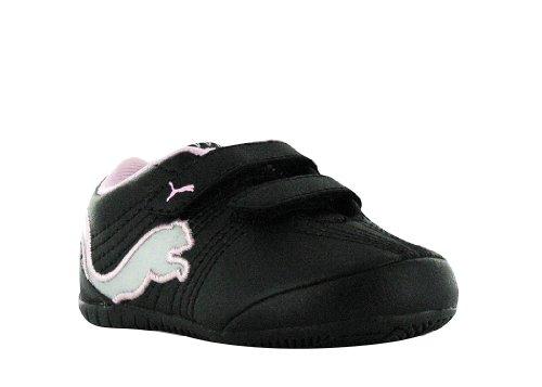 PUMA Kids' Etoile Cat V Sneaker,Black/Limestone Gray,6 M US Toddler