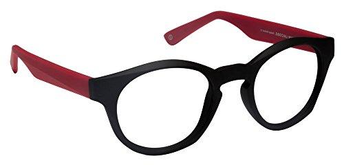 John Jacobs Bold JJ4357 Matte Black Red C5 Eyeglasses(101200)