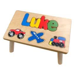 Amazon Com Personalized Transportation Wooden Puzzle