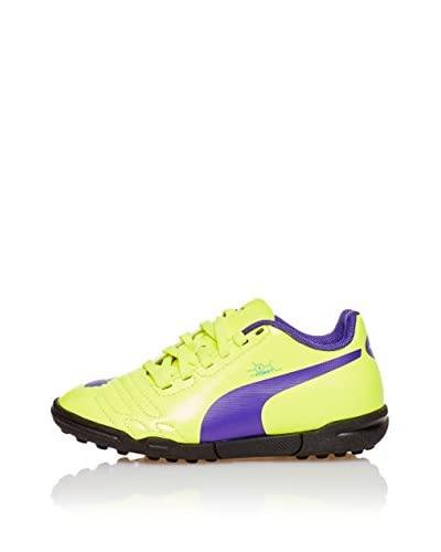 Puma evoPOWER 4 TT Jr, Scarpe da calcio Unisex bambini, Arancione (Orange (fluro yellow-prism violet...