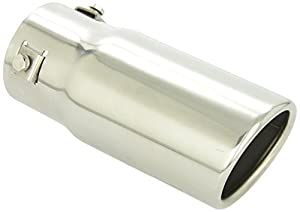 """Superior 28-6202 3"""" x 7"""" Stainless Steel, Slant Bolt-On Exhaust Tip"""