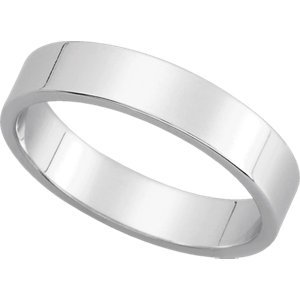 Genuine IceCarats Designer Jewelry Gift Platinum Wedding Band Ring Ring. 04.00 Mm Flat Band In Platinum Size 10