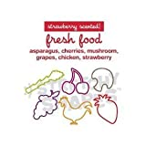 Pack of 24 FRESH FOOD Stretchy Shapes: SCENTED Rubber Bands Rubber Bands