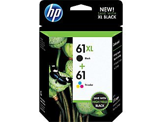 Hp 61Xl/61 High Yield Black And Standard Tri-Color Original Ink Cartridges, Combo Pack