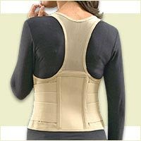 Cincher Women's Posture Back Brace Support Belt – Tan – Medium