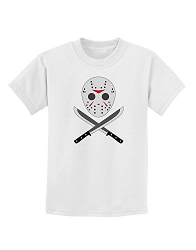 Scary Mask With Machete - Halloween Childrens T-Shirt