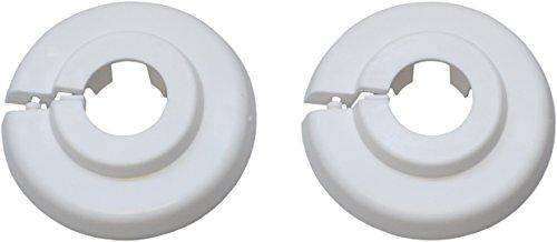 Klapprosette 15 mm, 2 Stück, weiß, 1845691