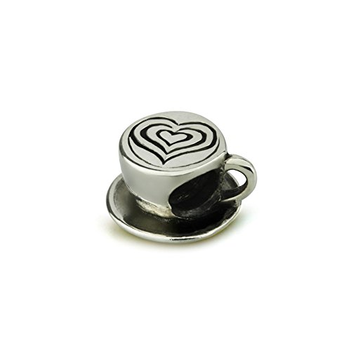 Ohm Beads Sterling Silver My Latte Bead Charm