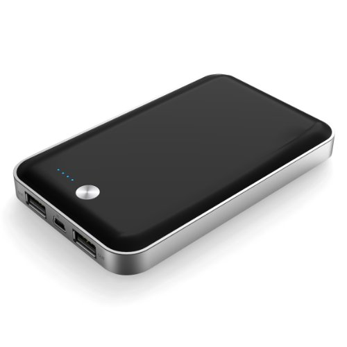cheero Powerbox Black 7000mAh 大容量モバイルバッテリー1A×2ポート/ポーチ付/半年保証 ★iPhone5/各種スマホ/Tablet/wifiルータ対応★