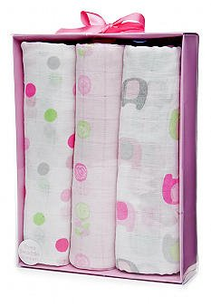 Nursery Rhyme® 3-pack Mixed Girly Swaddling Blankets