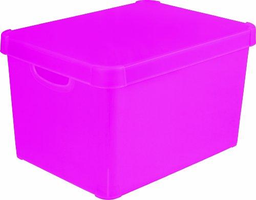 Stockholm 213231 Dekorative Box, Polypropylen, durchsichtig, groß, Rosa