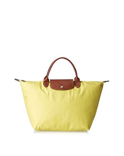 Longchamp Women's Le Pliage Satchel, Lemon